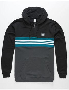 Adidas Throwback Mens 1/4 Zip Hoodie by Adidas