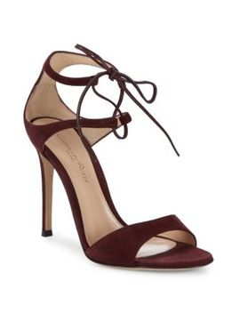 Suede Stiletto Heel Sandals by Gianvito Rossi