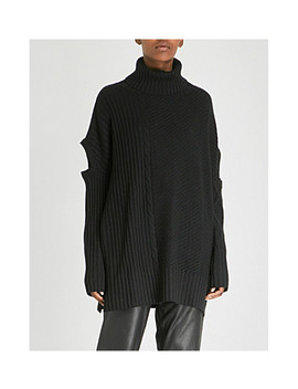 Lydia Wool, Silk And Cashmere Blend Turtleneck Sweater by Osman