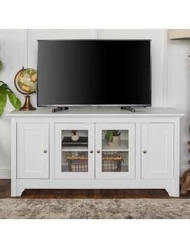 52 In. White Wood Tv Media Stand Storage Console by Walker Edison Furniture Company