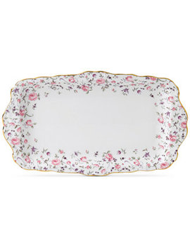 Rose Confetti Sandwich Tray by Royal Albert