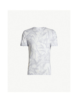 Bruno Abstract Print Woven T Shirt by Reiss