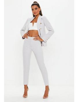Light Grey Cigarette Pants by Missguided