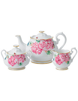 Miranda Kerr For Friendship Teapot, Sugar & Creamer by Royal Albert