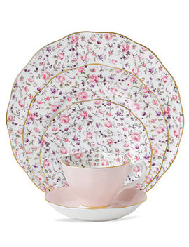 Rose Confetti 5 Piece Place Setting by Royal Albert