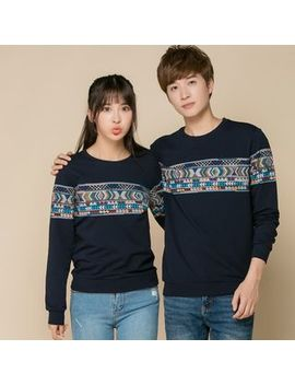 Couple Matching Lettering Pullover by Republique