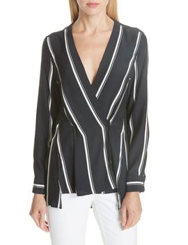 Debbie Stripe Silk Blouse by Rag & Bone