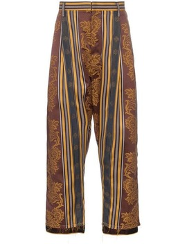Bed J.W. Ford Curtain Print Cropped Cotton Trousers Home Men Bed J.W. Ford Clothing Cropped Pants by Bed J.W. Ford