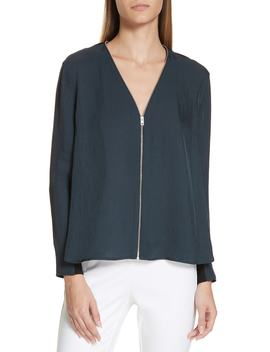 Vanessa Zip Front Blouse by Rag & Bone