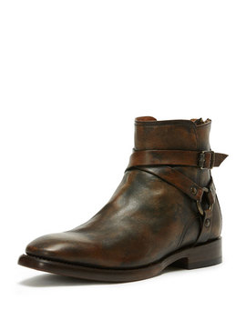 Men's Weston Leather Harness Boot, Brown by Frye