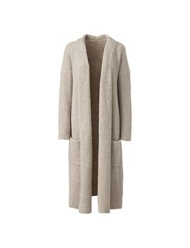 Lands' End   Beige Soft Leisure Merino Blend Boucle Cardigan by Lands' End