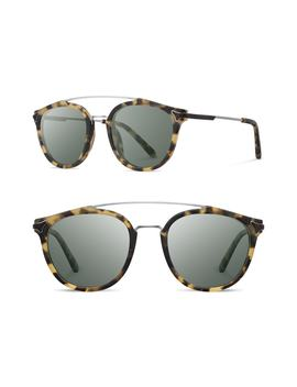 Kinsrow 49mm Acetate & Wood Sunglasses by Shwood