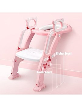 Growth Pic Toddler Toilet Training Seat With Sturdy Non Slip Ladder Step Potty Ladder For Toddlers And Girls by Growth Pic