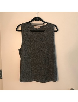 Loft Heather Grey Knit Tank Top Size Xl by Loft