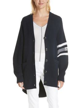 Addams Varsity Stripe Merino Wool Cardigan by Rag & Bone