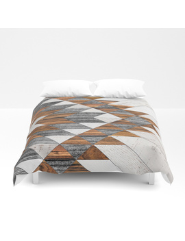 Urban Tribal Pattern 12   Aztec   Wood Duvet Cover by