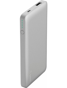 Pocket Power 5,000 M Ah Portable Charger For Most Usb Enabled Devices   Silver by Belkin