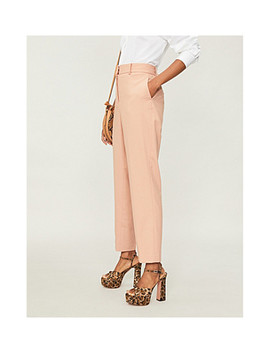 Lilli High Rise Wool Blend Tapered Pants by Reiss