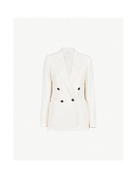 Tate Double Breasted Wool Blend Blazer by Reiss
