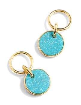 Demi Fine 14k Gold Plated Turquoise Drop Earrings by J.Crew