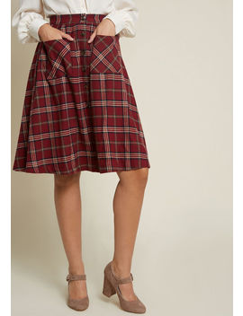 Encouraging Outlook Flannel Skirt by Modcloth