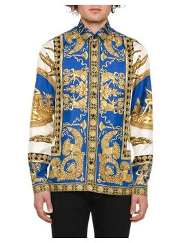 Men's Camicie Graphic Sport Shirt by Versace