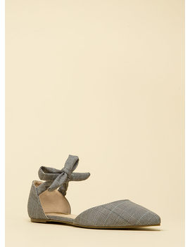 Too Cute For School Pointy Plaid Flats by Go Jane