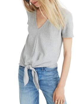 Texture & Thread V Neck Modern Tie Front Top by Madewell