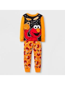 Sesame Street Baby Boys' 2pc Cotton Pajama Set   Orange by Shop All Sesame Street