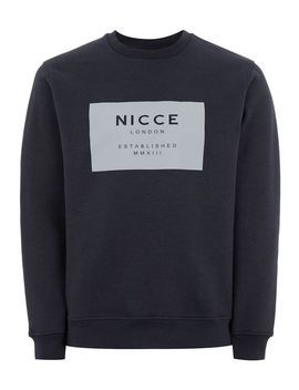 Nicce Navy 'mmxiii' Sweatshirt by Topman
