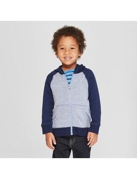 Toddler Boys' Fleece Zip Up Hoodie   Cat & Jack™ Navy by Shop All Cat & Jack™