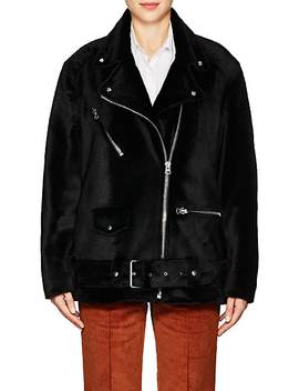 Myrtle Shearling Moto Jacket by Acne Studios