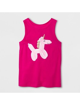 Toddler Girls' Unicorn Tank Top   Cat & Jack™ Hot Magenta Pink by Shop All Cat & Jack™