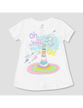 Toddler Girls' Dr. Seuss Places You'll Go Short Sleeve T Shirt   Ivory by Shop All Dr. Seuss