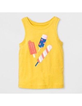 Toddler Girls' Ice Cream Cone Tank Top   Cat & Jack™ Yellow Beet by Shop All Cat & Jack™