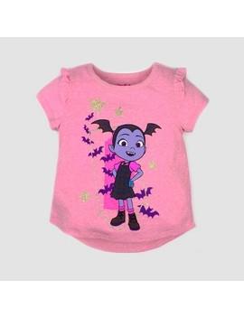Toddler Girls' Disney Vampirina Short Sleeve T Shirt   Pink by Shop All Disney