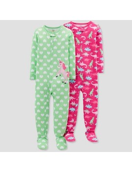 Toddler Girls' Unicorn Footed Sleeper   Just One You™ Made By Carter's® Bluff Green by Shop All Just One You Made By Carter's