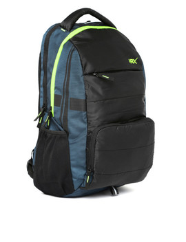 Hrx By Hrithik Roshan Unisex Black & Navy Backpack by Hrx By Hrithik Roshan