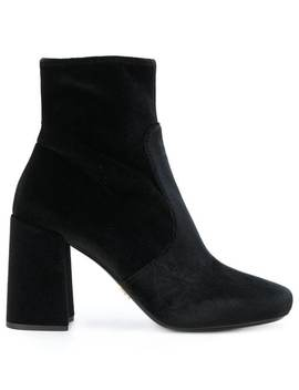 Pradachunky Heel Ankle Bootshome Women Prada Shoes Boots by Prada
