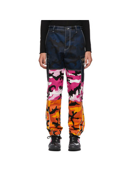 Multicolor Camou Shuffle Cargo Pants by Valentino