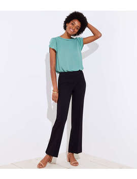 Petite Trousers In Twill In Julie Fit by Loft