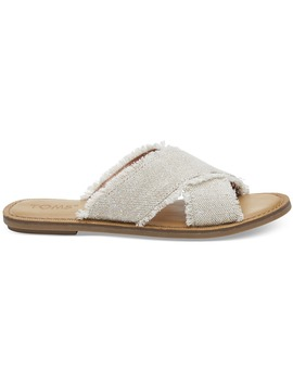 Natural Metallic Jute Women's Viv Sandals by Toms