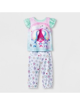Toddler Girls' Trolls 2pc Pajama Set   Blue by Shop All Trolls