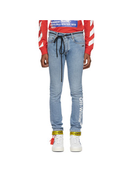 Blue Logo Skinny Jeans by Off White