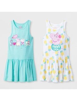 Toddler Girls' Peppa Pig 2pk Sundress   Green/Yellow by Shop All Peppa Pig