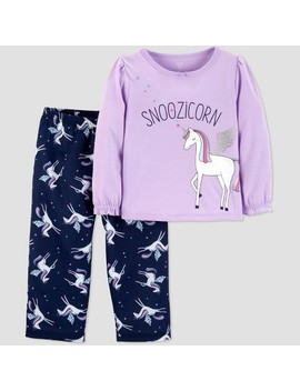 Toddler Girls' 2pc Snoozicorn North Pajama Set   Just One You™ Made By Carter's® Violet by Shop All Just One You Made By Carter's