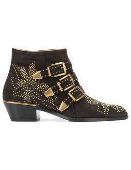 Chloésuzanne Micro Studded Bootieshome Women Chloéshoes Boots by Chloé