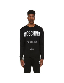 Black 'couture!' Crewneck Sweater by Moschino