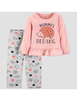 Toddler Girls' 2pc Bed Hog North Pajama Set   Just One You™ Made By Carter's® Pink by Shop All Just One You Made By Carter's