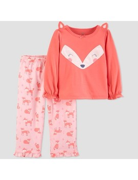 Toddler Girls' 2pc Fox North Pajama Set   Just One You™ Made By Carter's® Peach by Shop All Just One You Made By Carter's